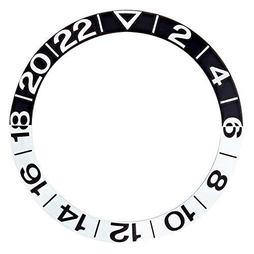 - Bezel Insert for Omega GMT 300M SEAMASTER 2534.50 168.1620 50TH ANV Black/Silver