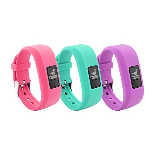 BeneStellar 12 Colors for Garmin Vivofit JR Bands With Secure Watch Clasp Silicone Replacement Bands for Garmin Vivofit JR (for Kids)