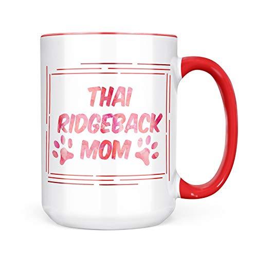 Neonblond Custom Coffee Mug Dog & Cat Mom Thai Ridgeback 15oz Personalized Name