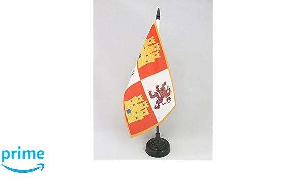 AZ FLAG Bandera de Mesa de la Corona DE Castilla 1230-1715 21x14cm ...
