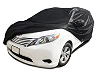 CarsCover Custom Fit 2004-2016 Toyota Sienna Mini Van Car Cover Xtrashield Minivan Black