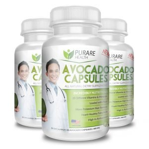 Purare Health Avocado Supplements – 100% Natural Avocado Oil Capsules with Magnesium, Vitamin D, A, C, E, B1, B2, B6…