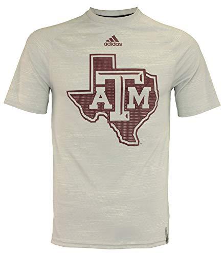 - Texas A&M Aggies Adidas 2016 Sideline Climalite S/S Training Shirt - Gray