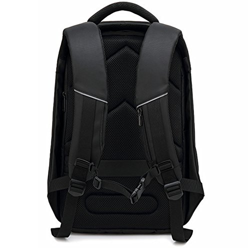 Commuter color Black Bag Capacity Business Hole Trip Large Earphone Black Popular theft Anti Design Lightweight Multifunction Commute Backpack Men's Usb Port Mount aRBqHRwd
