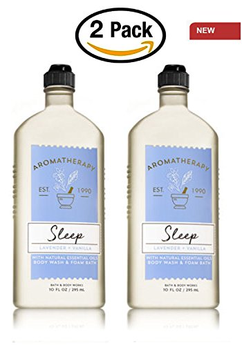 Body Wash Foam Bath (Lot Of 2 Bath And Body Works Original Aromatherapy Sleep Lavender Vanilla Body Wash Foam Bath 10 Ounces Each Reference The Pic Old To Show Actual Version)