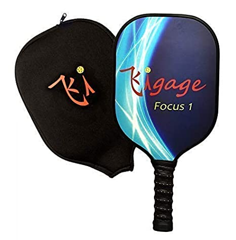 Kigage Graphite Pickleball Paddle – Light Weight Perfect for Beginners to 3.5 Players - Polymer Honeycomb Powercore Technology - Pickleball Paddle Set ...