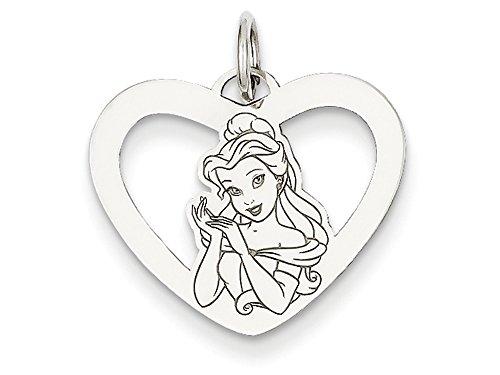 14kt Bracelet Slide Charm (Disney Belle Heart Charm 14kt)