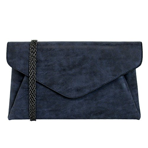 jnb-womens-faux-lether-double-pocket-envelop-clutch-navy