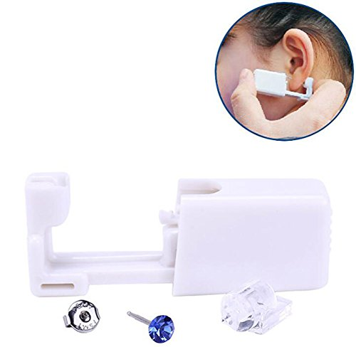 (2PCS Disposable Portable Ear Piercing Gun Ear Stud Gun Nose Piercing Gun Set With 2PCS Stud Earrings)