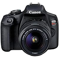 Canon EOS Rebel T7 18-55mm DC III Digital Camera, Black