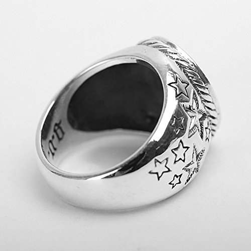 Bishilin Silver Plated Rings for Men Skull Partner Rings Silver Size 12 by Bishilin (Image #3)'