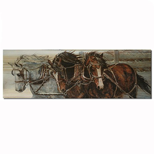 WGI Gallery WA-WWH-124 Winter Wind Horses Wall Art