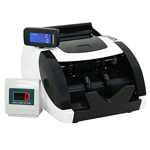 ZENY Currency Cash Bill Counter Automatic Money Counting Machine UV Detection & MG Counterfeit Bill Detection (Money Counter)