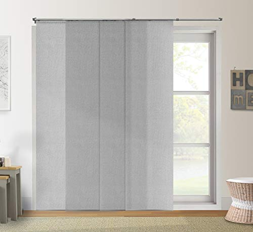 "Chicology Adjustable Sliding Panels Cut to Length Vertical Blinds, Up to 80"" W X 96"" H, 3. Urban Grey (Light Filtering)"