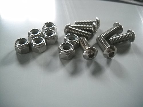 "RodLouvers Pair of Angled Aluminum 5"" 7 Louver Hood Panels (Bolt-On) Kit by RodLouvers (Image #2)"