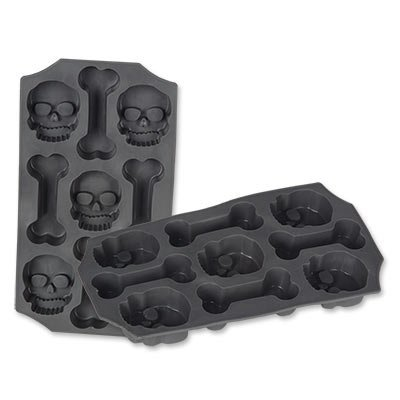Black silicon skeleton ice mold