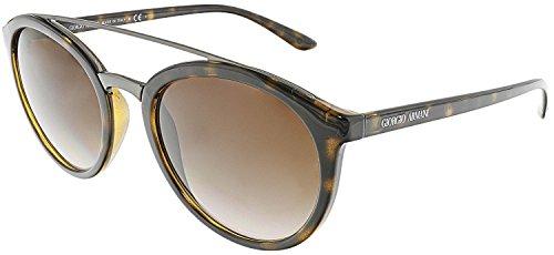 Giorgio Armani AR8083 502613 Dark Havana AR8083 Round Sunglasses Lens - Armani Sunglasses Women