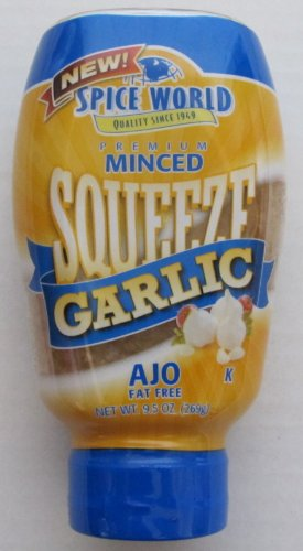 (Spice World Minced Squeeze Garlic California Grown)