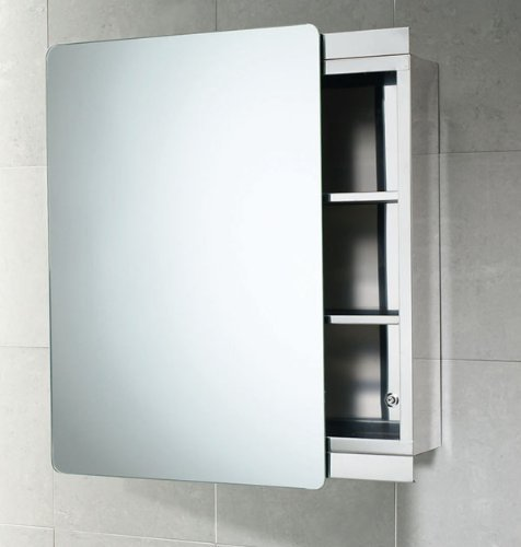 Gedy Space Saving Stainless Steel Bathroom Cabinet With Sliding