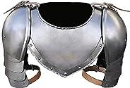 OSCAR HANDICRAFT Medieval Gorget Spaulders | Iron Arm Shoulder Set | Viking Crusader Pauldrons Armor| Steel Sp
