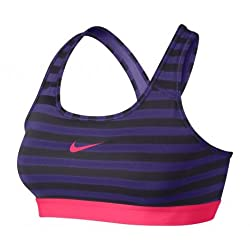 Nike Pro Classic Stripe Sports Bra Small