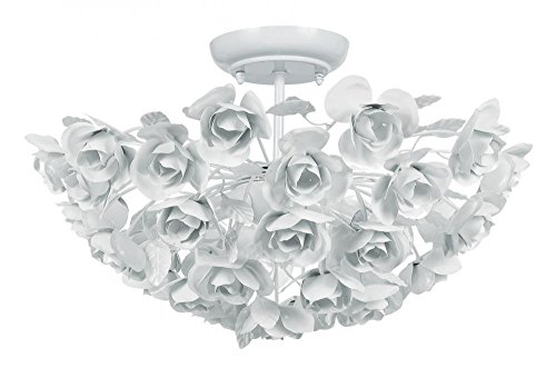 - Wet White 3 Light White Wrought Iron Semi Flush Mount Ceiling Fixture From The Cypress Collection