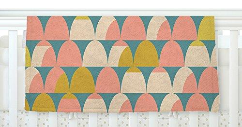 40 x 30 KESS InHouse Michelle Drew Scallops Pink Teal Fleece Baby Blanket