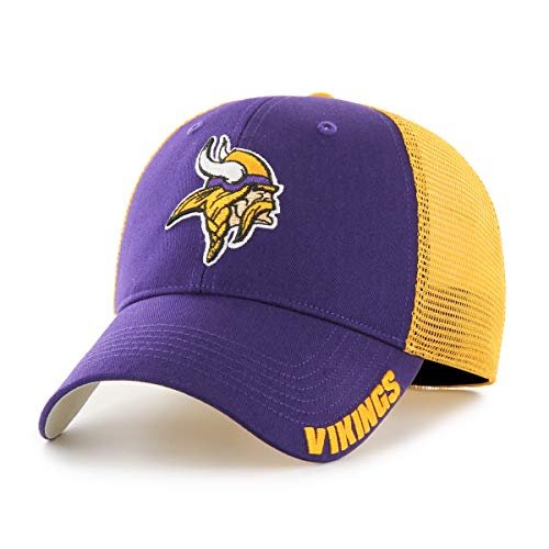 Purple Franchise Fitted Hat - NFL Minnesota Vikings Hursh OTS Center Stretch Fit Hat, Purple, Large/X-Large