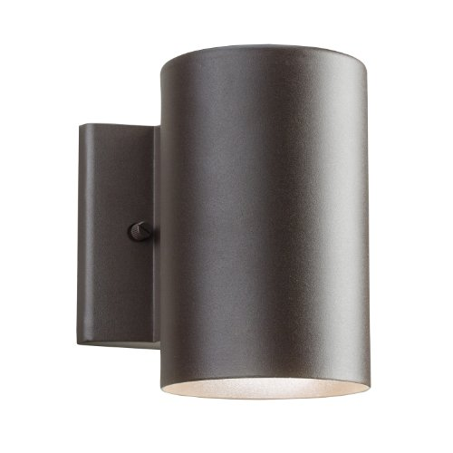 Kichler Lighting 11250AZT Outdoor 11.23W 7-Inch LED Wall Mount, Textured Architectural Bronze (Textured Architectural Bronze Line)