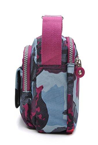 Multicolore tuokener Pour Nylon Sacs Voyager Waterproof Imperméable Crossbody Bandoulière Femme Bag vxa4Afwvqr