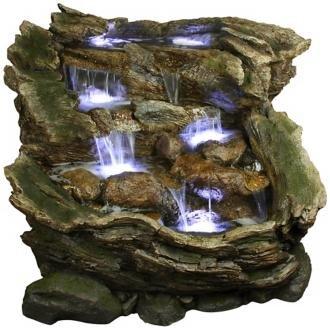 Rainforest Falls Three-Tier LED Fountain