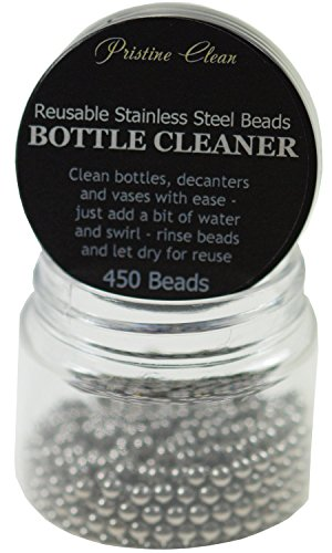 (Decanter Cleaning Beads - 450 Reusable Stainless Steel Cleaning Beads for Cleaning Glass Bottles, Decanters, Vases, Carafes (Steel Beads))