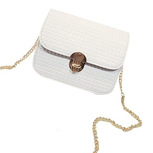 IEason bag, Women leather Shoulder Bag Satchel Handbag Retro Messenger Bag (White) by IEason-Bag