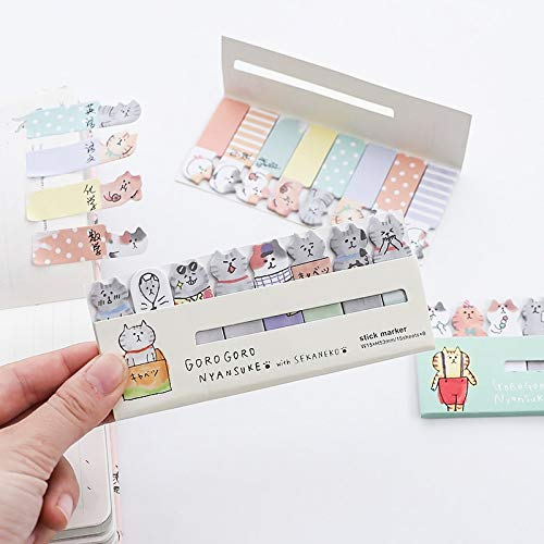 Office Decoration Sticky Notes - Pcs/Lot Cute Cat Sticky Notes Memo Pad Mini Index Sticker for Diary Planner Agenda Office Accessories School Supplies A6881 1 Pcs
