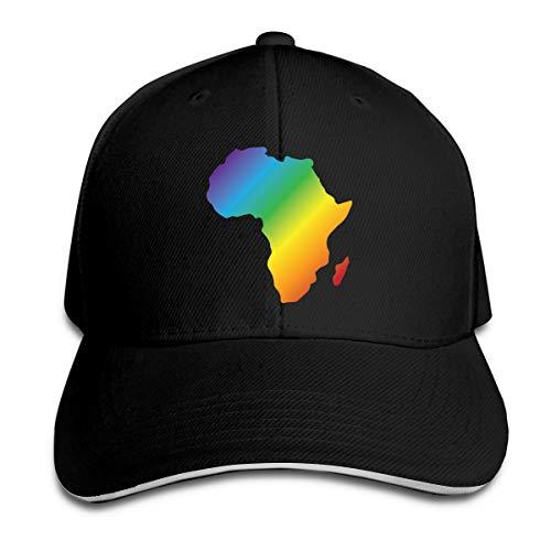 Africa Rainbow Adjustable Baseball Cap Unisex Dad Hat Sandwich Cap