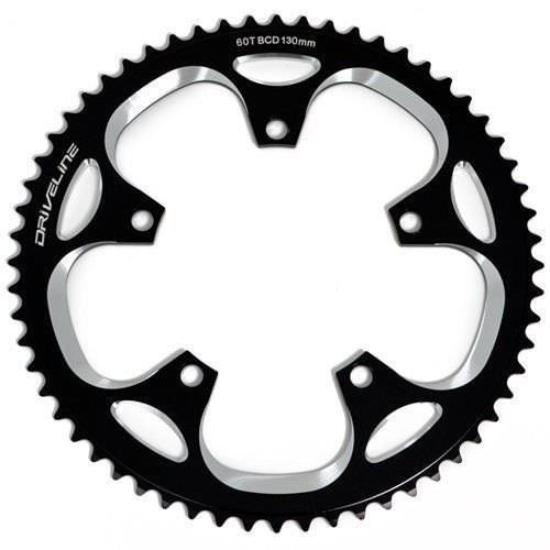 Driveline Packages - Driveline CNC 7075 Alloy 10/11 Speed Chainring 60T, BCD 130mm, Black #ST1352