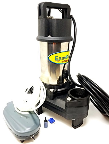 Easy Pro TH250 4100 GPH Pond Pump with FREE Bonus Aerator   Stainless Steel Submersible Pump for Ponds, Pondless Waterfalls, and Skimmer - Smart Heater Submersible