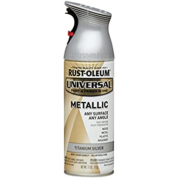 Rust-Oleum 245220 Universal All Surface Spray Paint, 11 oz, Metallic Titanium Silver