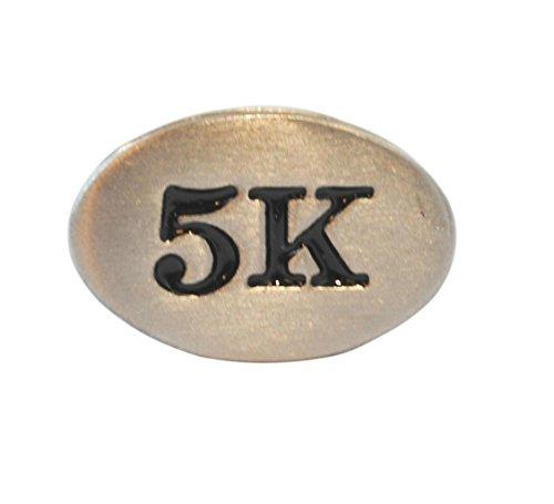 5k Runner (5k Race Stainless Steel Runner Shoelace Charm-Perfect Runner Gift)
