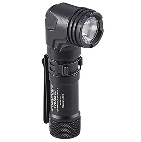 Streamlight 88088 ProTac 90 Right-Angle Light with CR123A Lithium Battery & AA Alkaline Battery & Nylon Holster - 300 Lumens