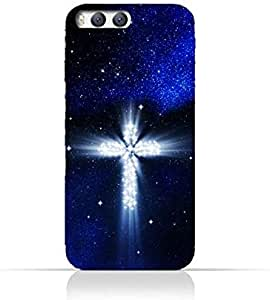 Xiaomi Mi 6 TPU Silicone Protective Case with Christian Cross on a Starry Night Design