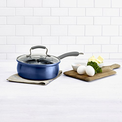 Non Stick Egg Poacher - Epicurious Aluminum Nonstick 8-Inch Covered Egg Poacher in Arctic Blue