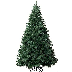 AMERIQUE 691322305562 8 FEET Premium Magnificent Artificial Full Body Shape Christmas Tree with Metal Stand, Unlit, 8', Green 6