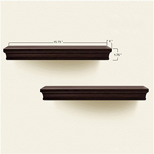 Review Decorative Wall Shelf Set Espresso Brown Finish Of 2pcs By AHDecor by AHDecor