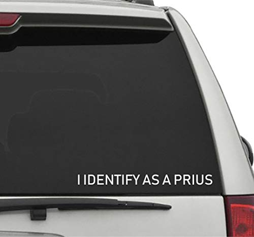 Seek Racing I Identify AS A Prius 1 Decal Sticker JDM KDM Low Euro Illest for CAR Truck Window ()