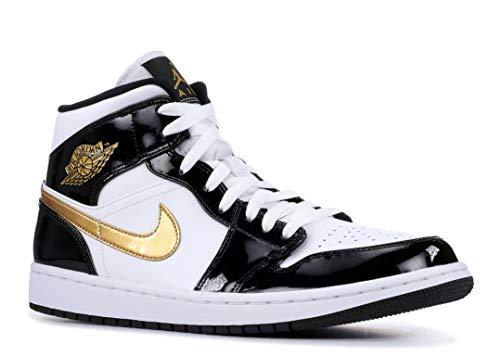 Jordan Nike Men's Air 1 MID SE Black/White/Gold 852542-007