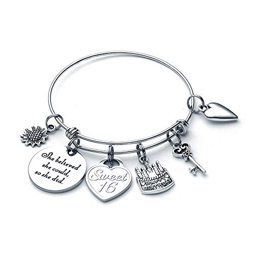 16th Birthday Gifts for Girls Bracelet - Happy Sweet Sixteen Bracelet 16 Birthday Gifts Teen Girls Daughter Granddaughter Niece Her 16 Year Old Girl Gifts for Birthday Christmas Valentine's Present