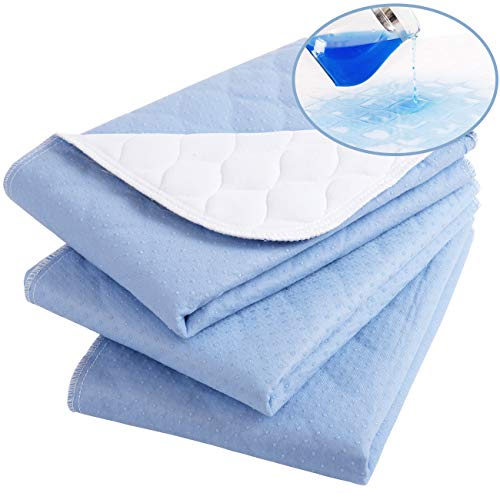 "Waterproof Washable Incontinence Bed pad,24""X28"" (3 Pack),Reusable Absorbency Underpads Sheet Mattress Protector for Adults, Kids and Pets"