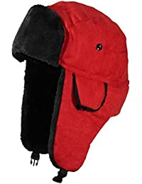Adult Russian/Aviator Faux Suede Leather w/Faux Fur(One Size)