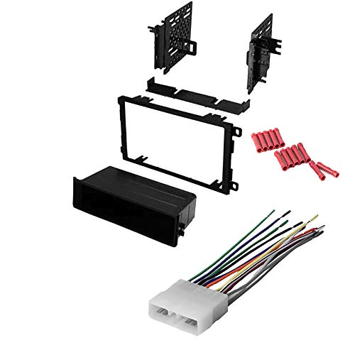 CACHÉ KIT117 Bundle with Complete Car Stereo Installation Kit Compatible with 1992-1995 Suzuki Sidekick - in Dash Mounting Kit, Harness for Double Din or Single Din Radio Receivers (3 Items)